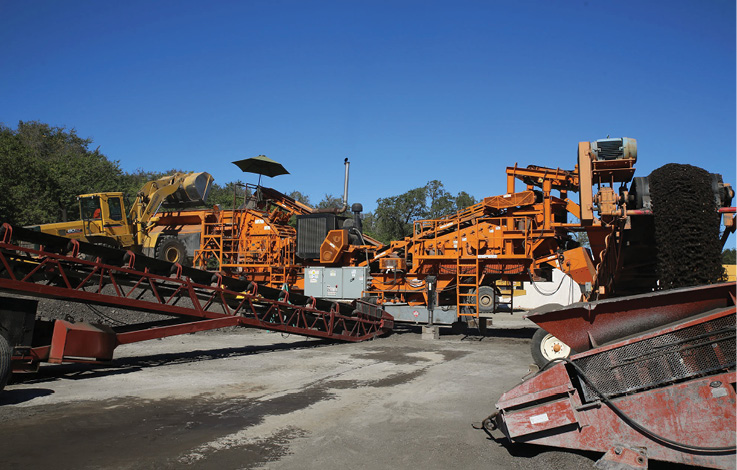 Material recycling equipment